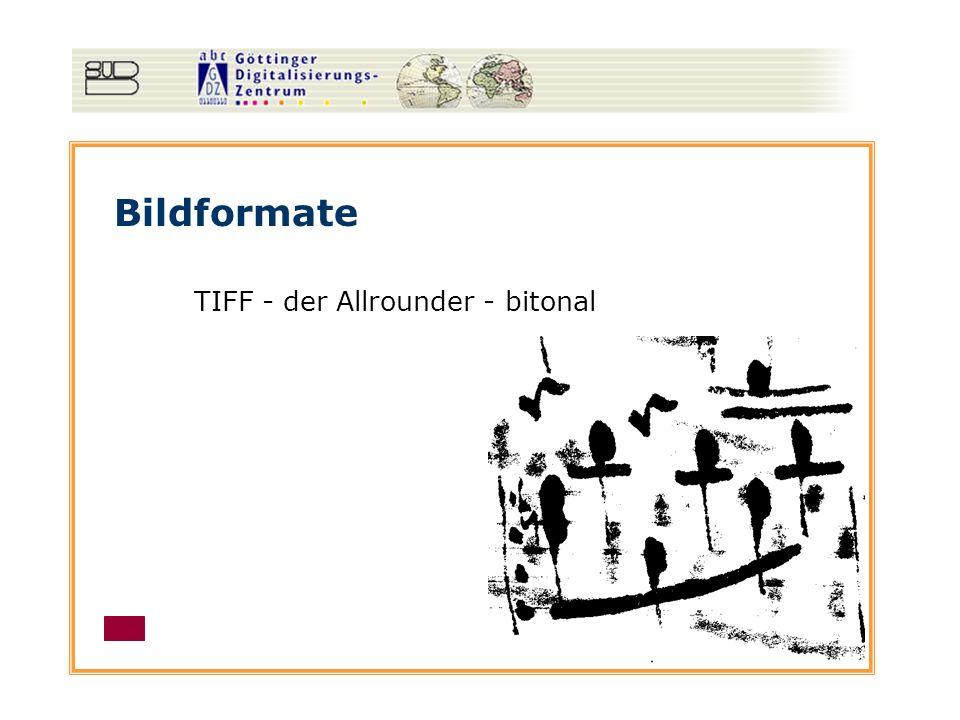 Bildformate TIFF - der Allrounder - bitonal