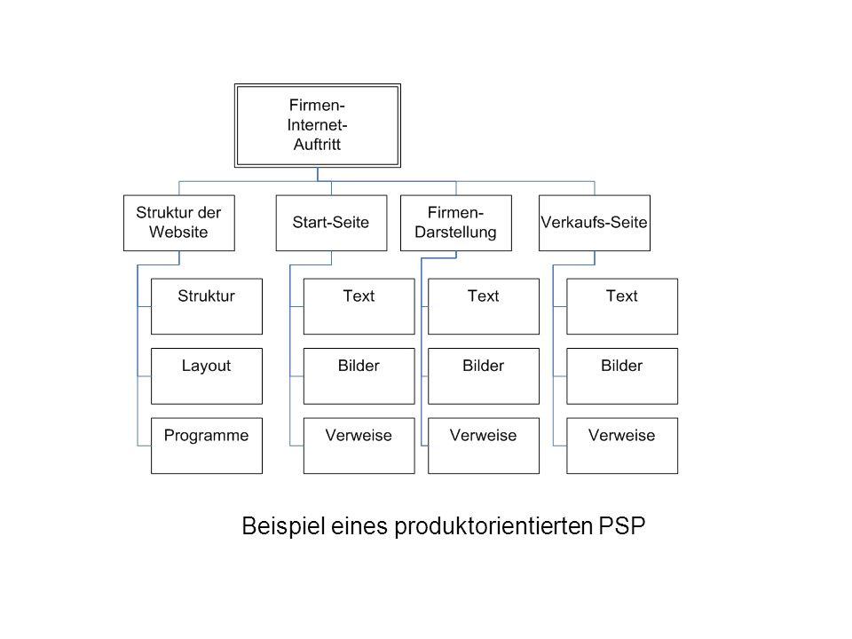 Beispiel eines produktorientierten PSP
