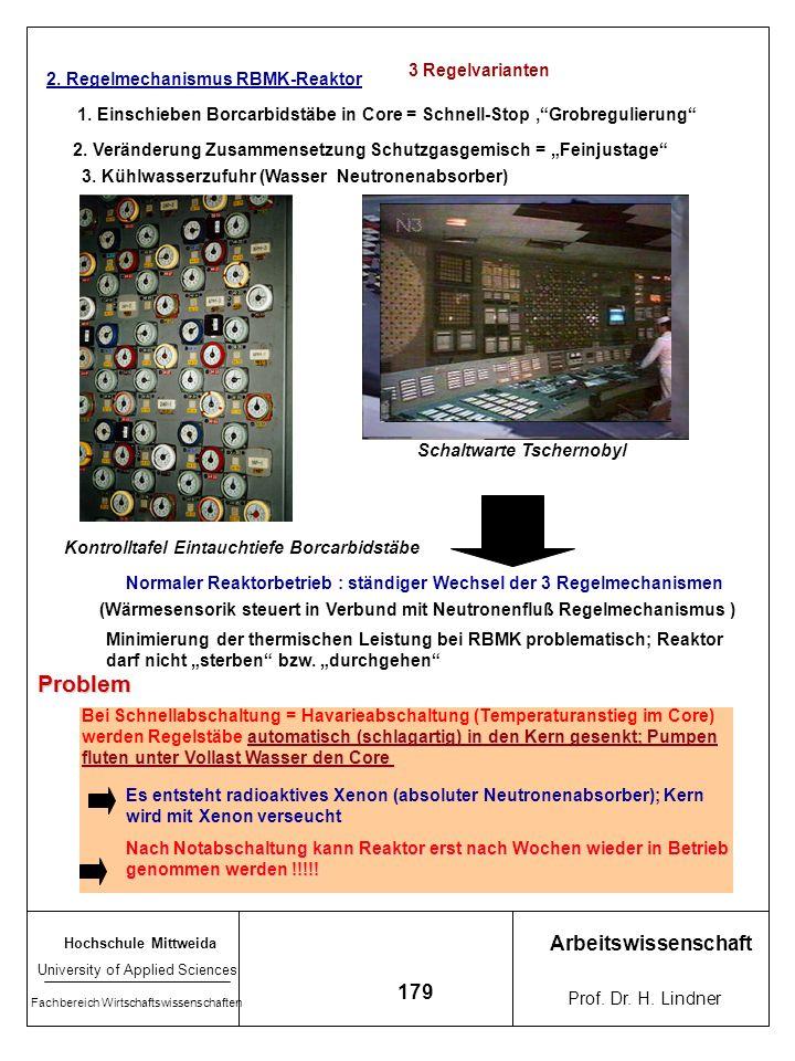 Problem Arbeitswissenschaft 179 3 Regelvarianten