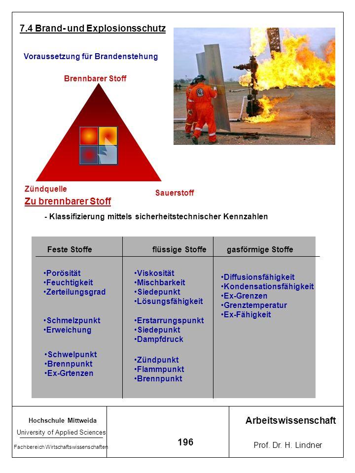 7.4 Brand- und Explosionsschutz