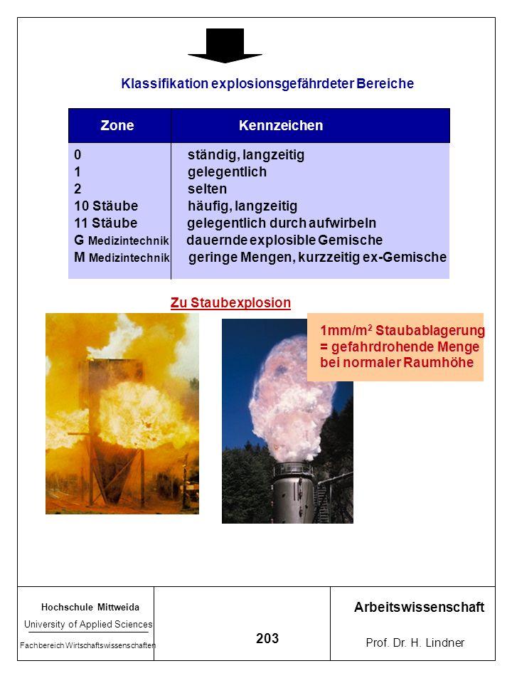 Klassifikation explosionsgefährdeter Bereiche