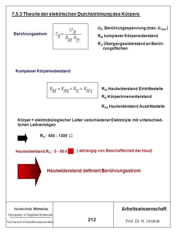 7.5.3 Theorie der elektrischen Durchströmung des Körpers
