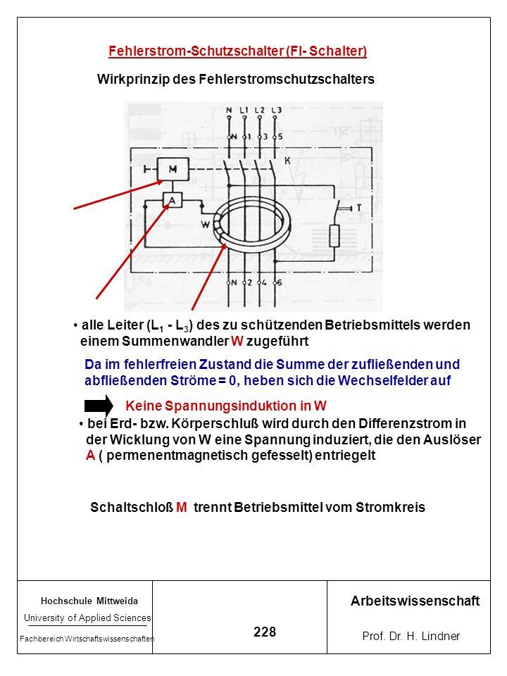 Fehlerstrom-Schutzschalter (FI- Schalter)