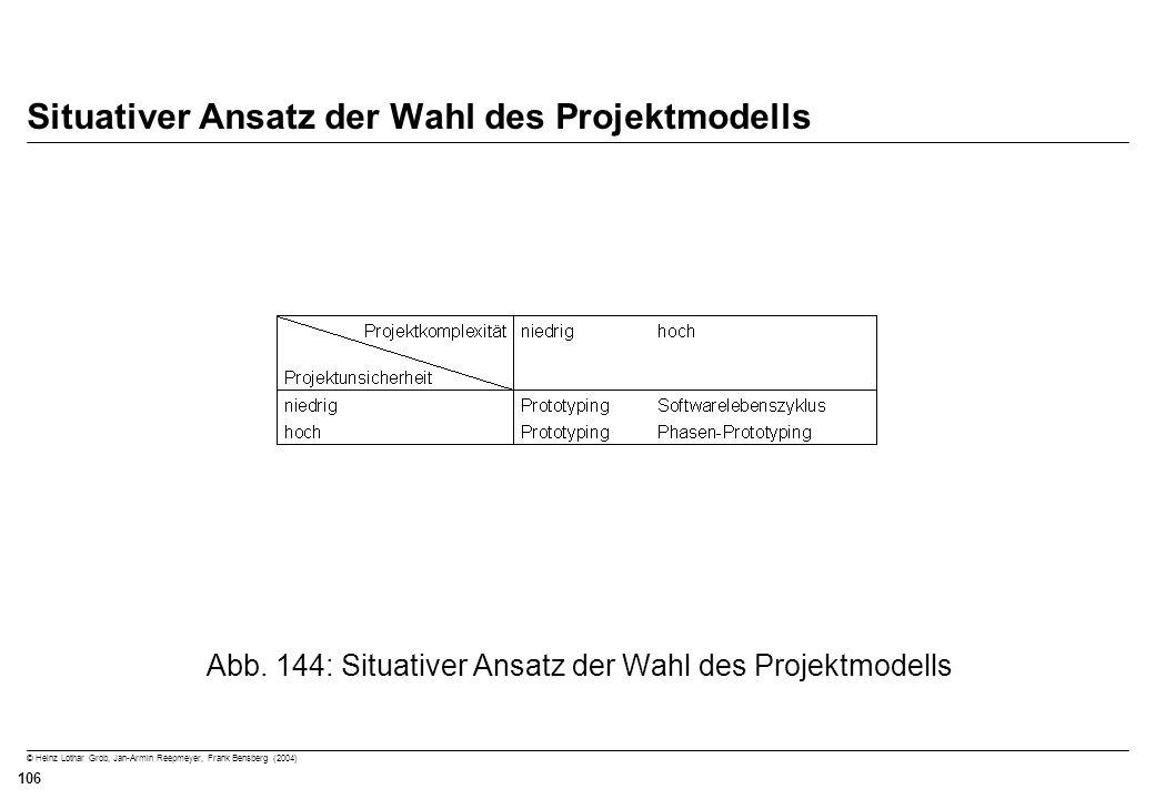 Situativer Ansatz der Wahl des Projektmodells