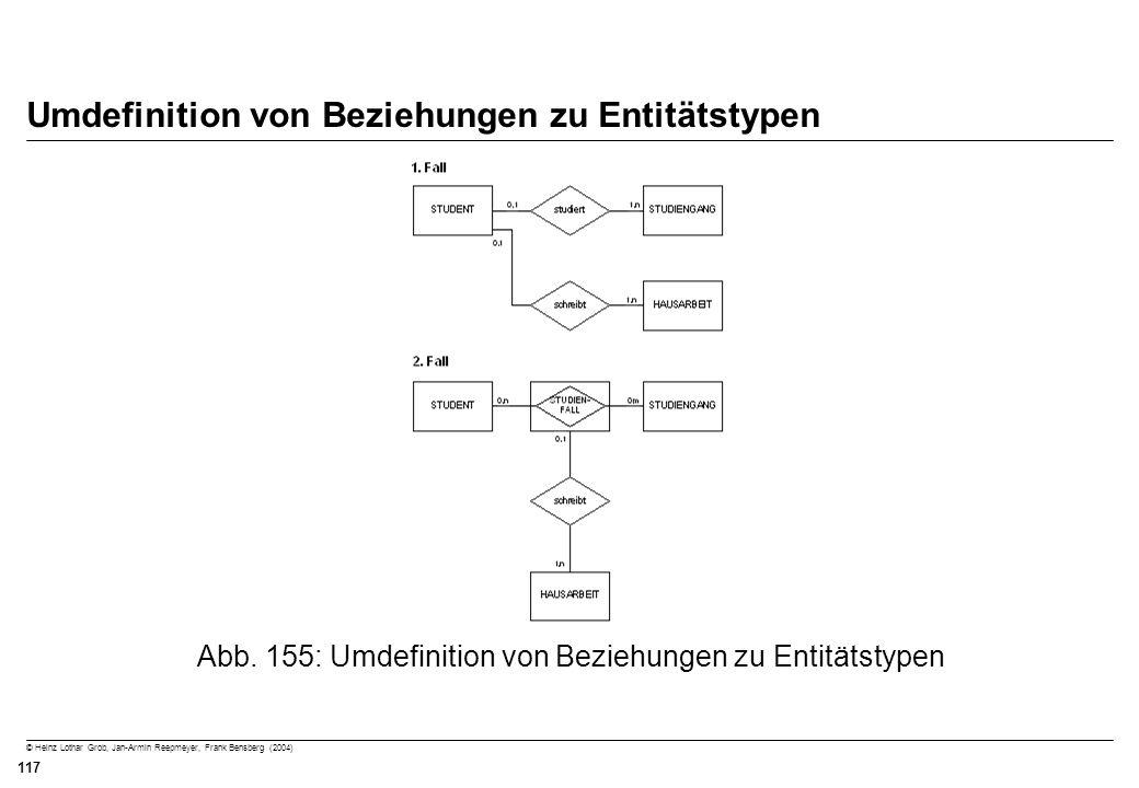 Umdefinition von Beziehungen zu Entitätstypen