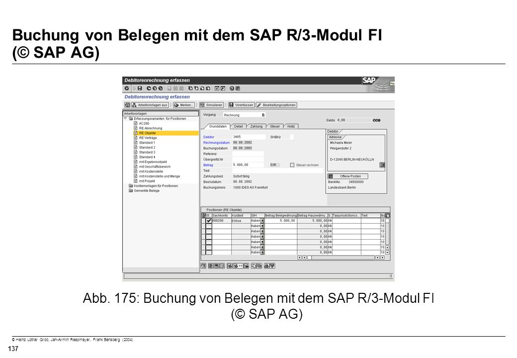 Buchung von Belegen mit dem SAP R/3-Modul FI (© SAP AG)