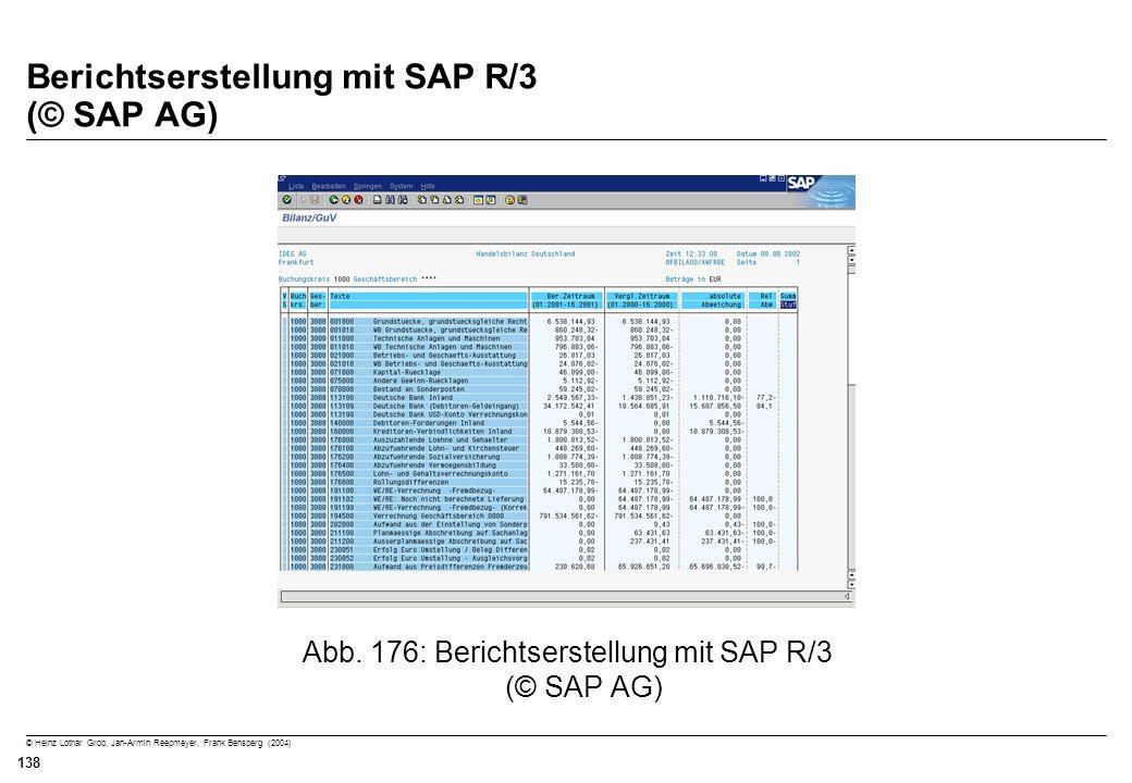 Berichtserstellung mit SAP R/3 (© SAP AG)