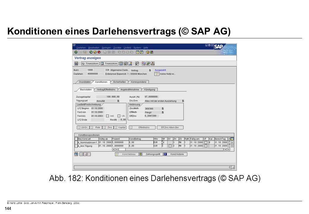 Konditionen eines Darlehensvertrags (© SAP AG)