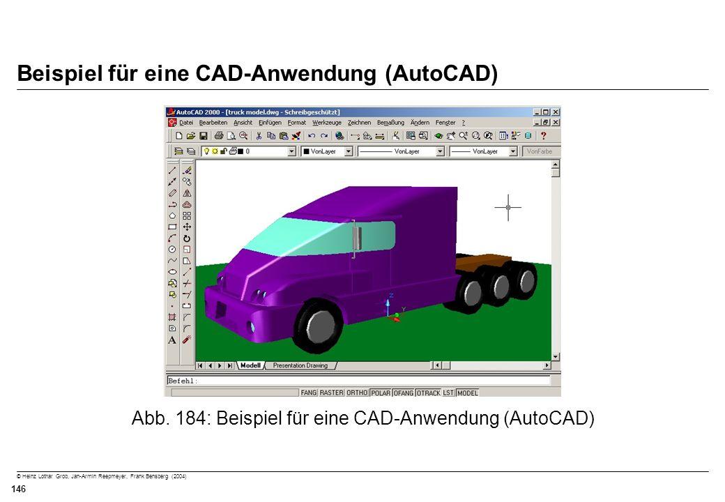 Beispiel für eine CAD-Anwendung (AutoCAD)
