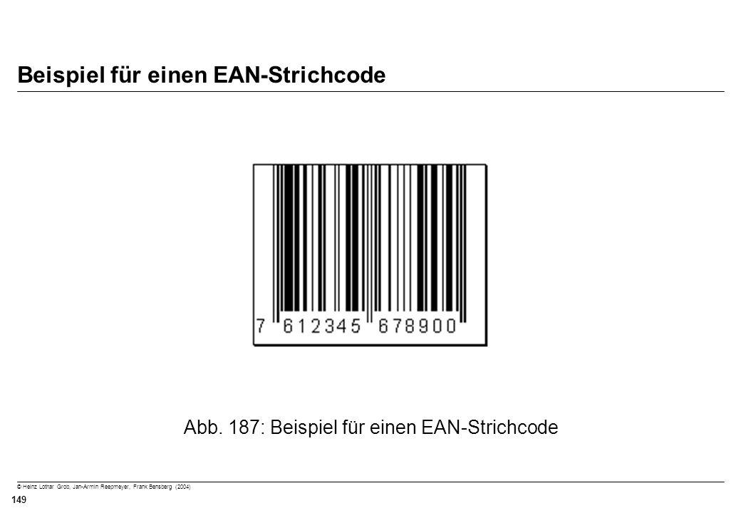 Beispiel für einen EAN-Strichcode