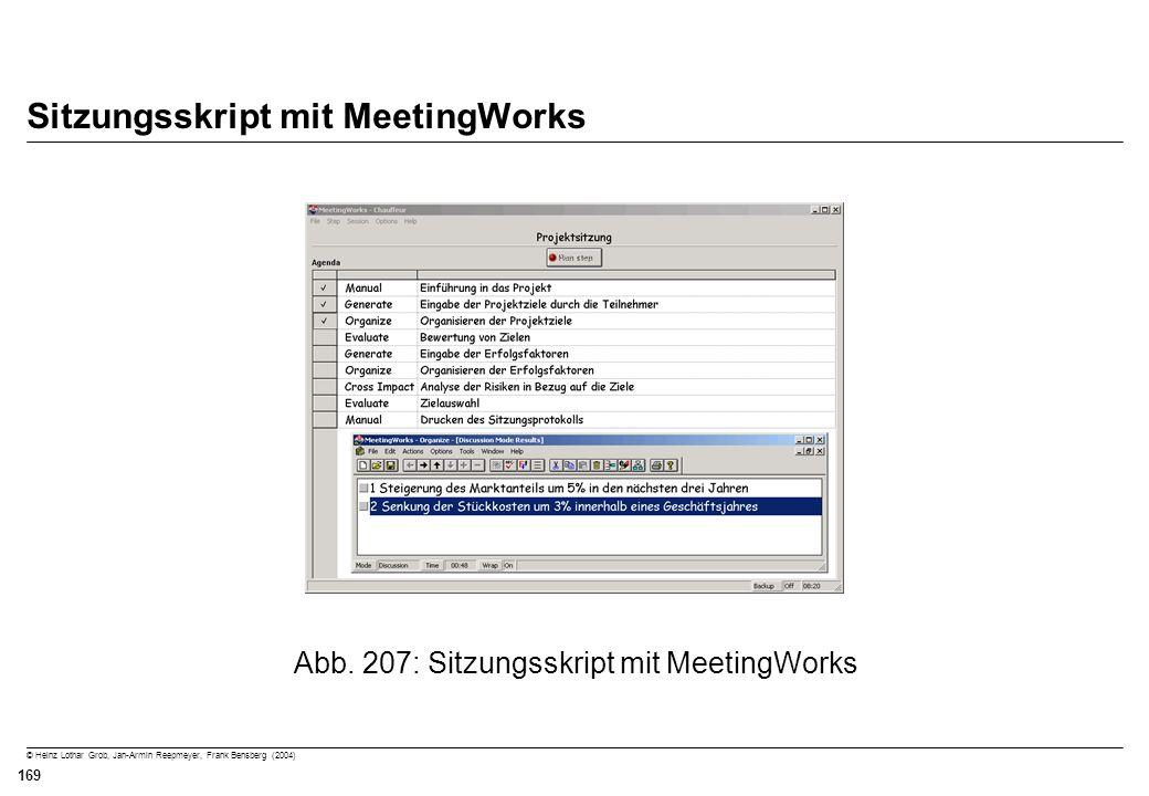 Sitzungsskript mit MeetingWorks
