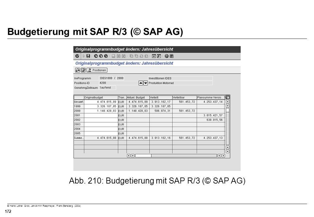 Budgetierung mit SAP R/3 (© SAP AG)