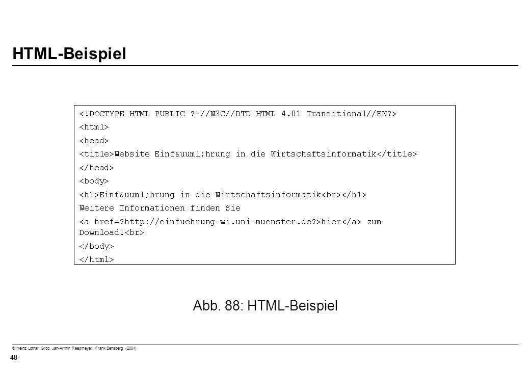 HTML-Beispiel Abb. 88: HTML-Beispiel