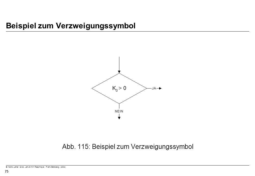 Beispiel zum Verzweigungssymbol