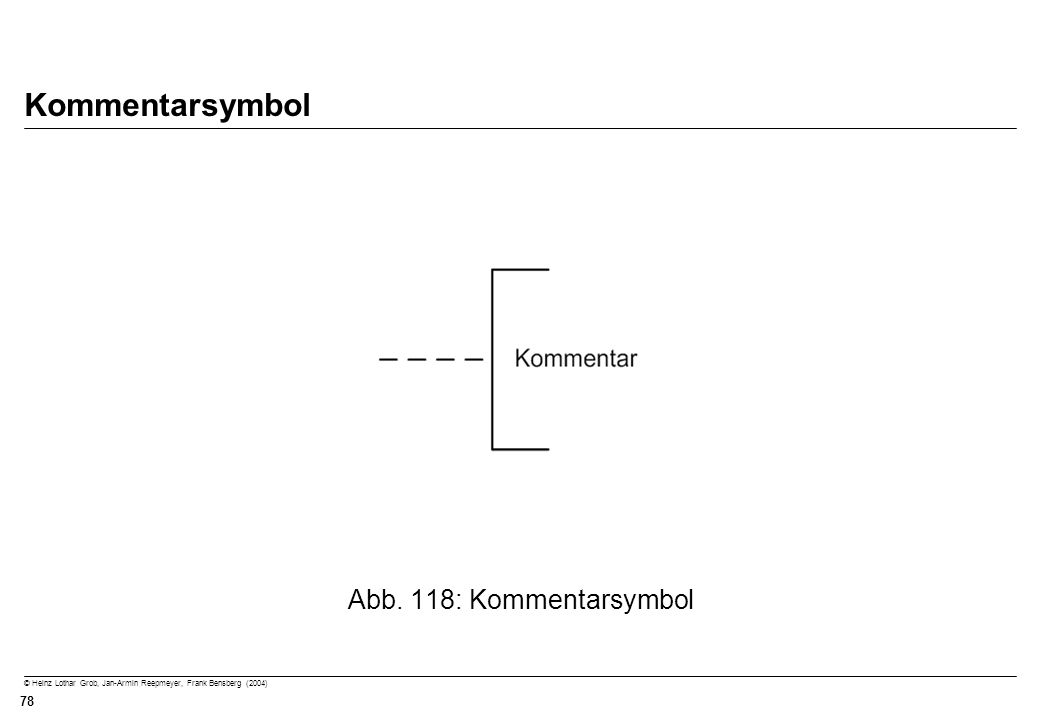 Kommentarsymbol Abb. 118: Kommentarsymbol