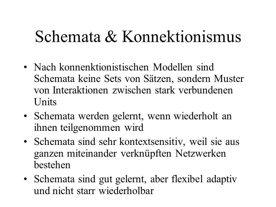 Schemata & Konnektionismus