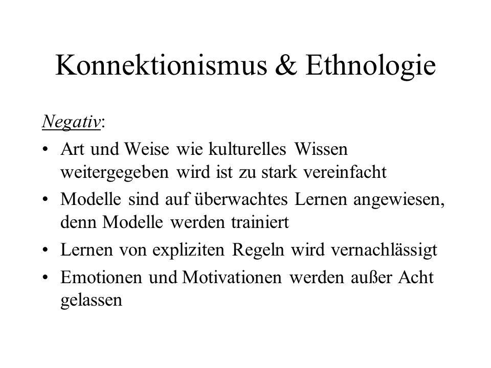 Konnektionismus & Ethnologie