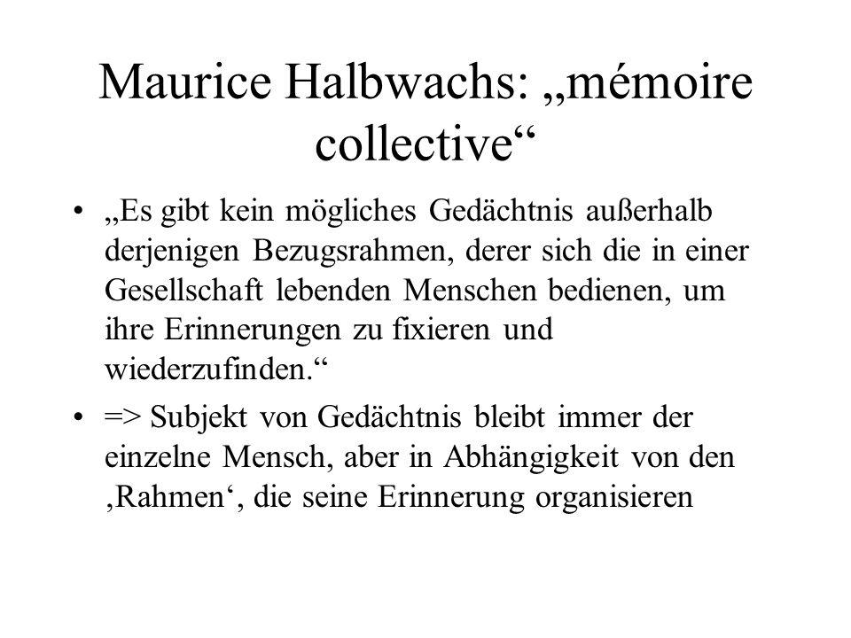 "Maurice Halbwachs: ""mémoire collective"