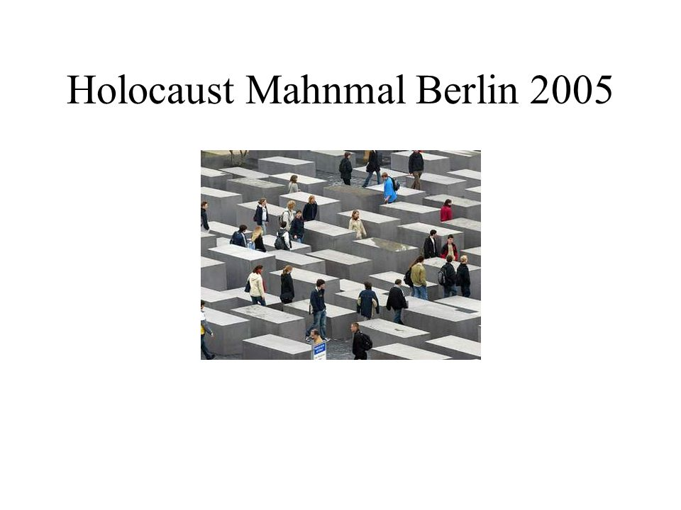 Holocaust Mahnmal Berlin 2005