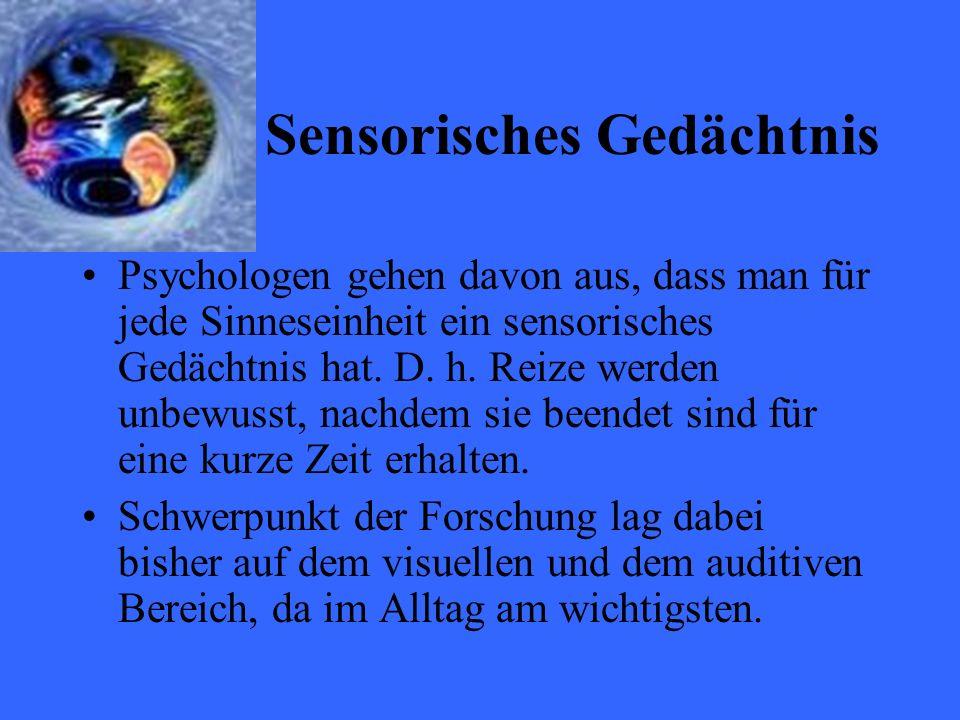 Sensorisches Gedächtnis