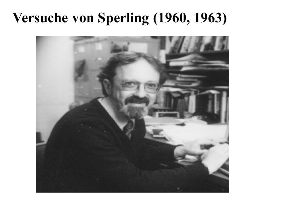 Versuche von Sperling (1960, 1963)