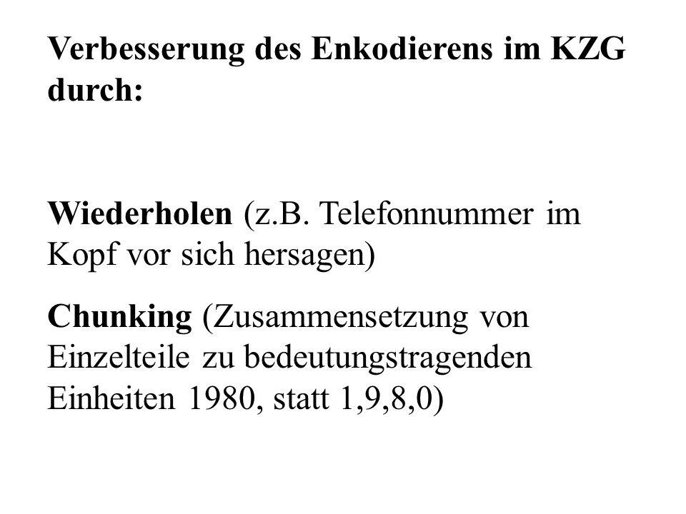 D G K V Y J Verbesserung des Enkodierens im KZG durch: