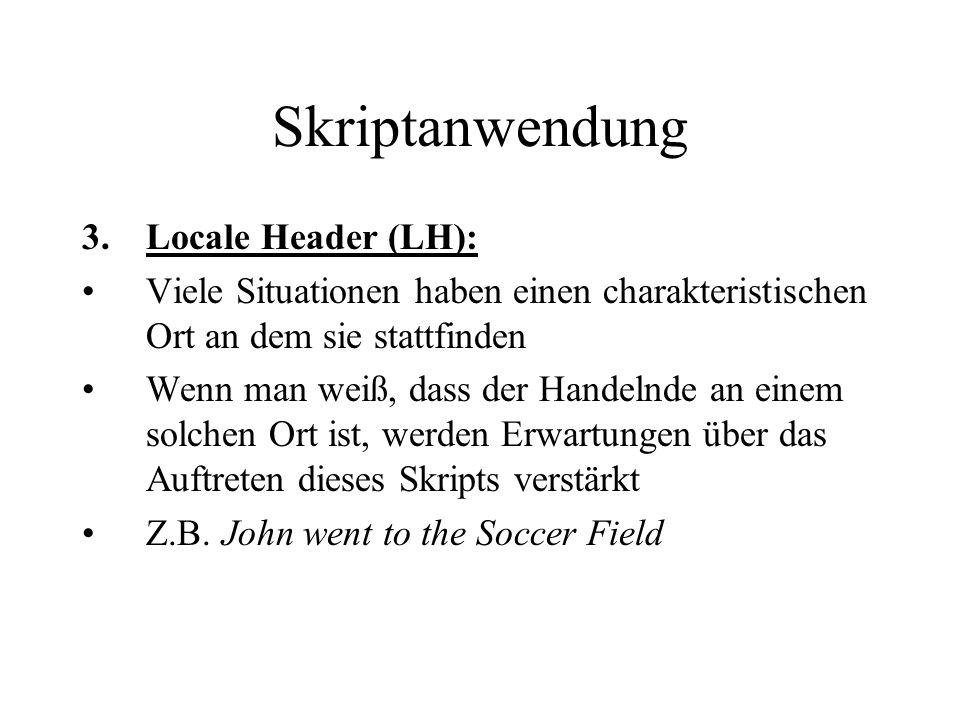Skriptanwendung Locale Header (LH):