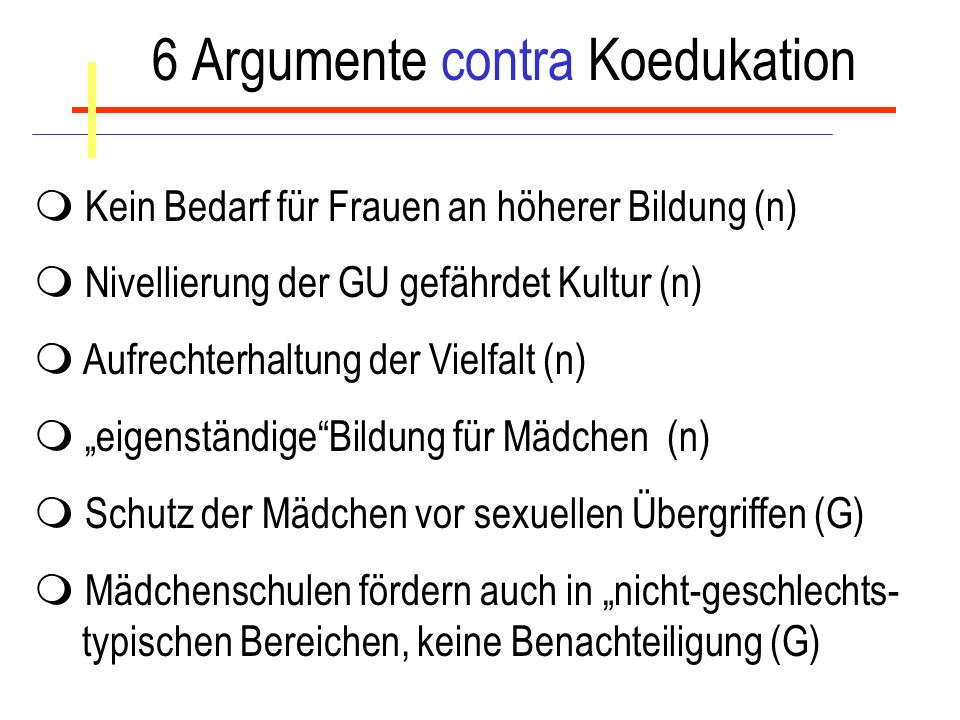 6 Argumente contra Koedukation