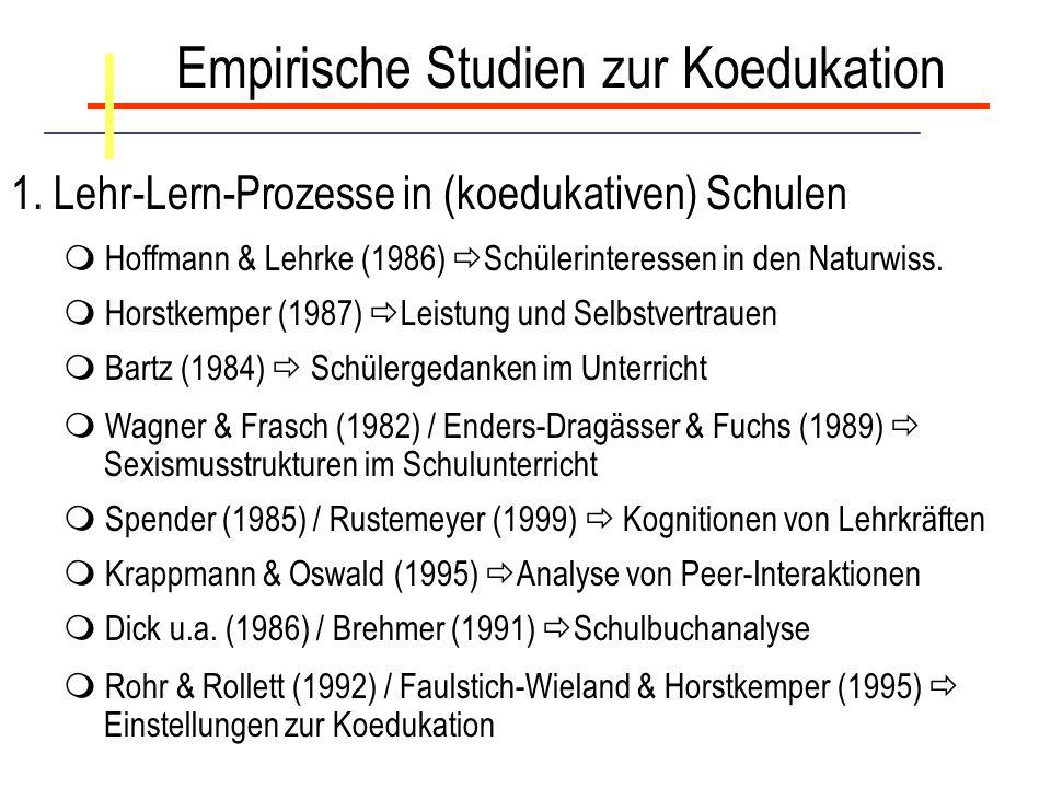 Empirische Studien zur Koedukation