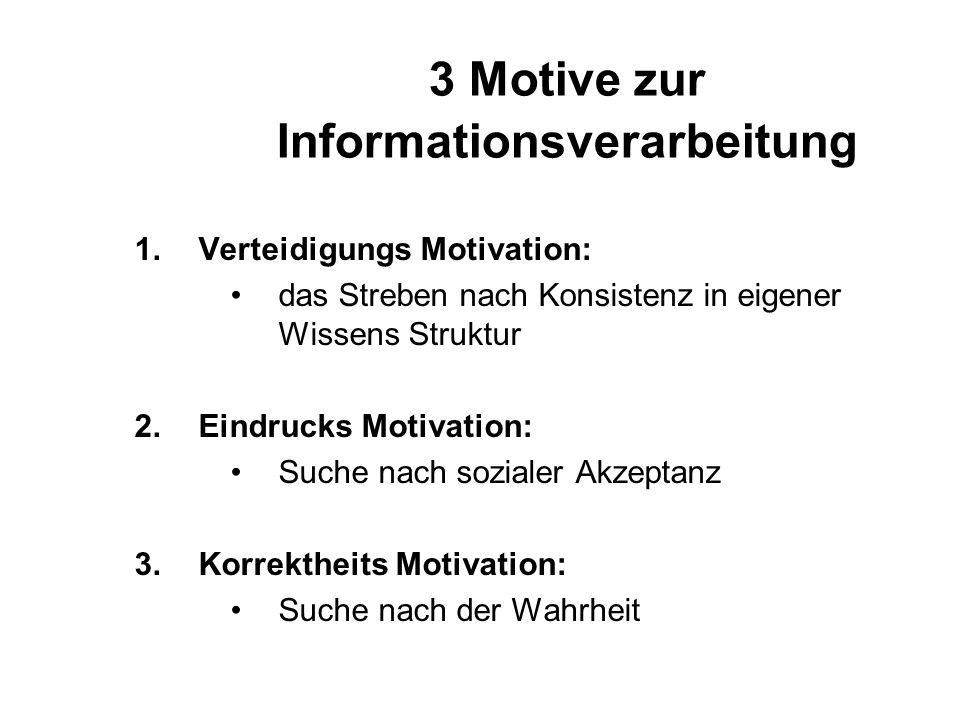 3 Motive zur Informationsverarbeitung