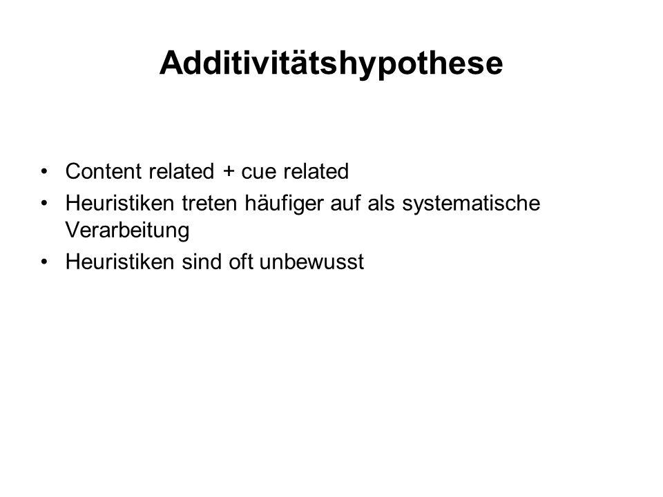 Additivitätshypothese