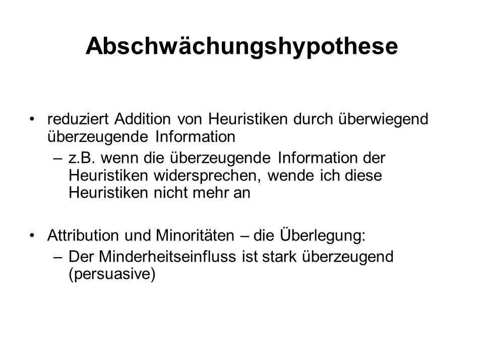 Abschwächungshypothese
