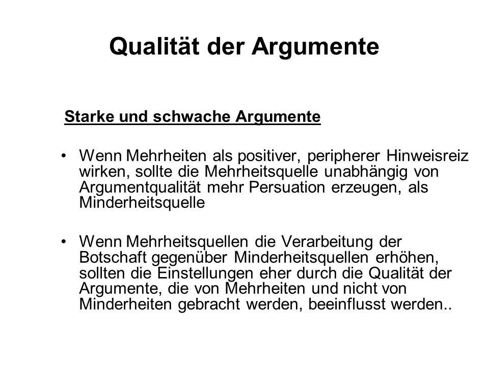 Qualität der Argumente