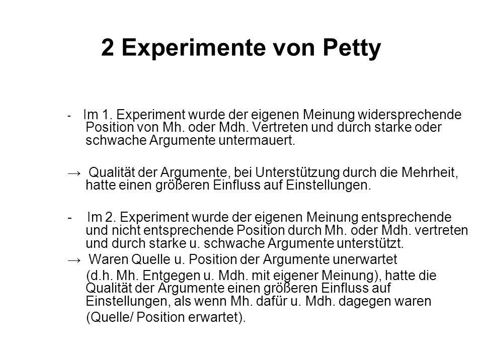 2 Experimente von Petty