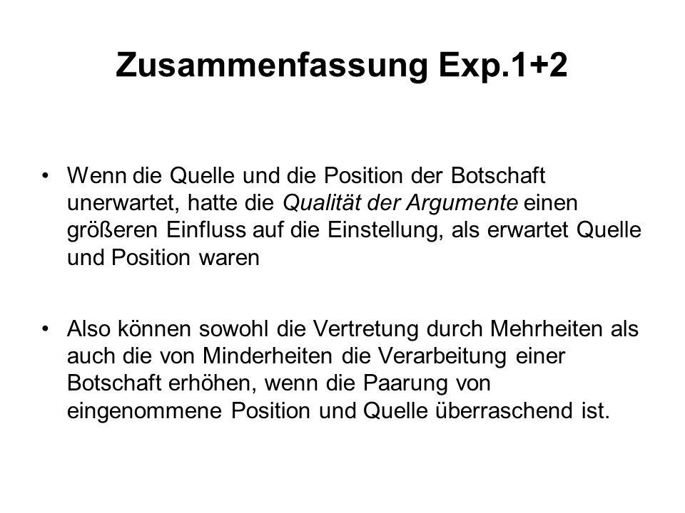 Zusammenfassung Exp.1+2