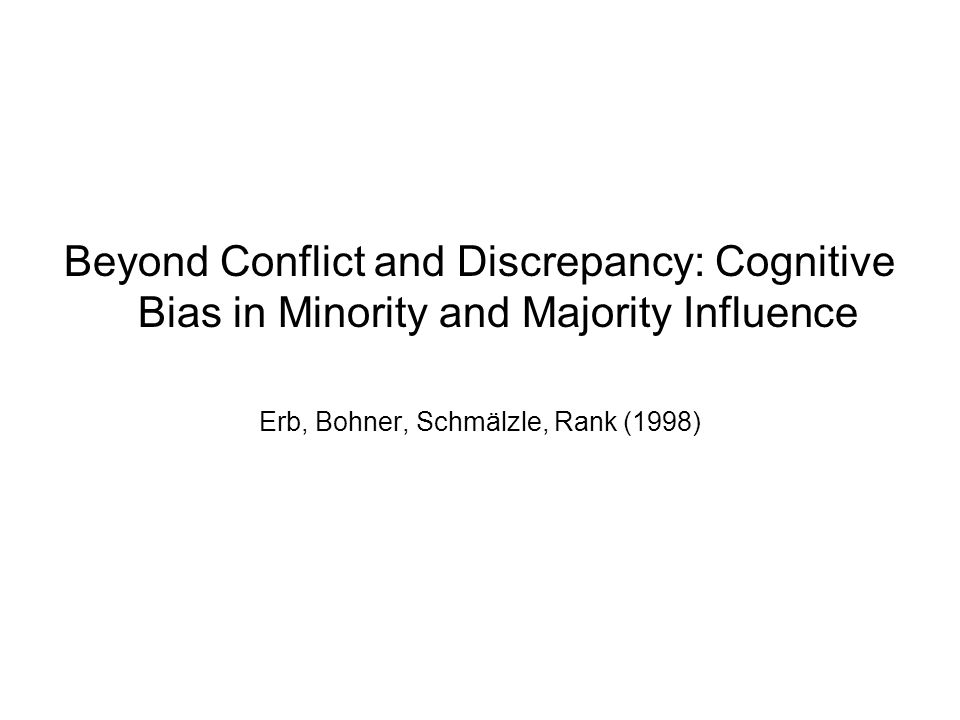 Erb, Bohner, Schmälzle, Rank (1998)