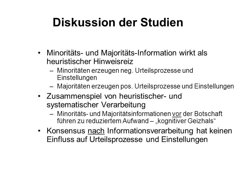 Diskussion der Studien