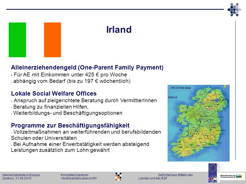 Irland Alleinerziehendengeld (One-Parent Family Payment)