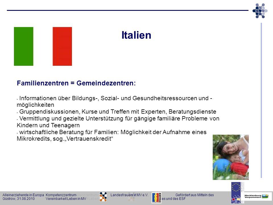 Italien Familienzentren = Gemeindezentren: