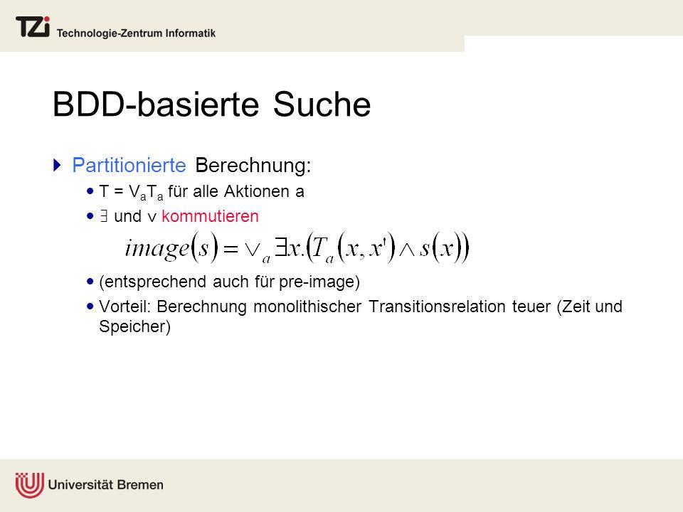 BDD-basierte Suche Partitionierte Berechnung: