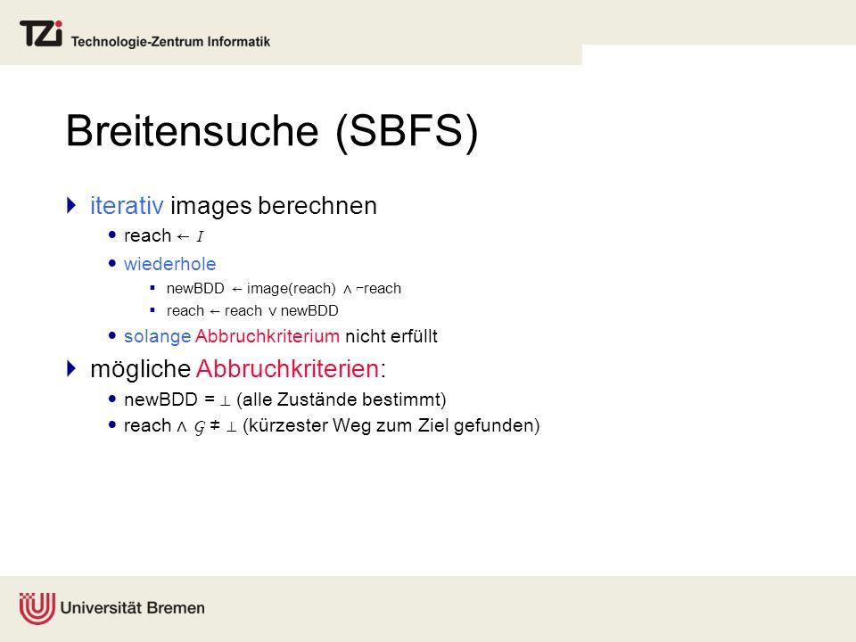 Breitensuche (SBFS) iterativ images berechnen