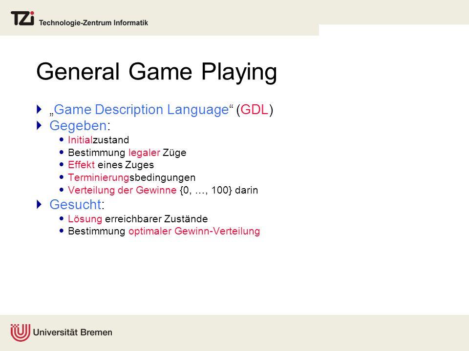 """General Game Playing """"Game Description Language (GDL) Gegeben:"""