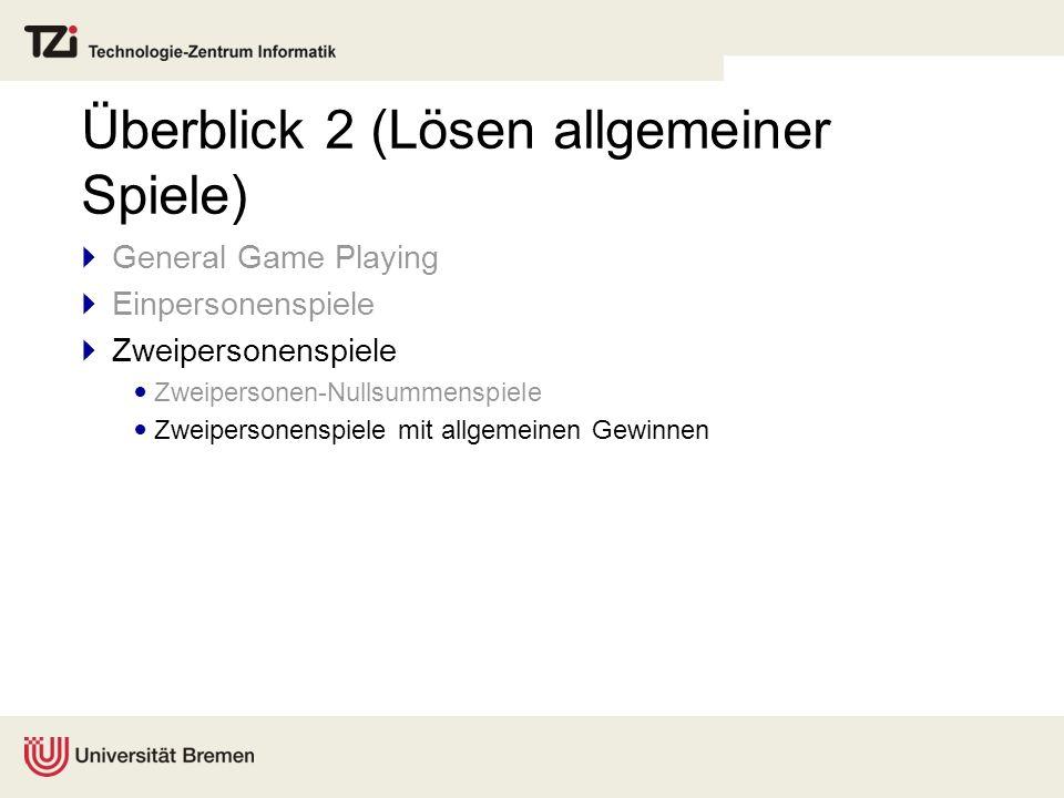 Überblick 2 (Lösen allgemeiner Spiele)