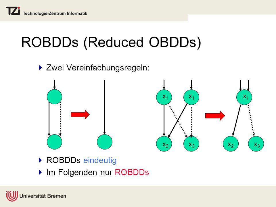 ROBDDs (Reduced OBDDs)