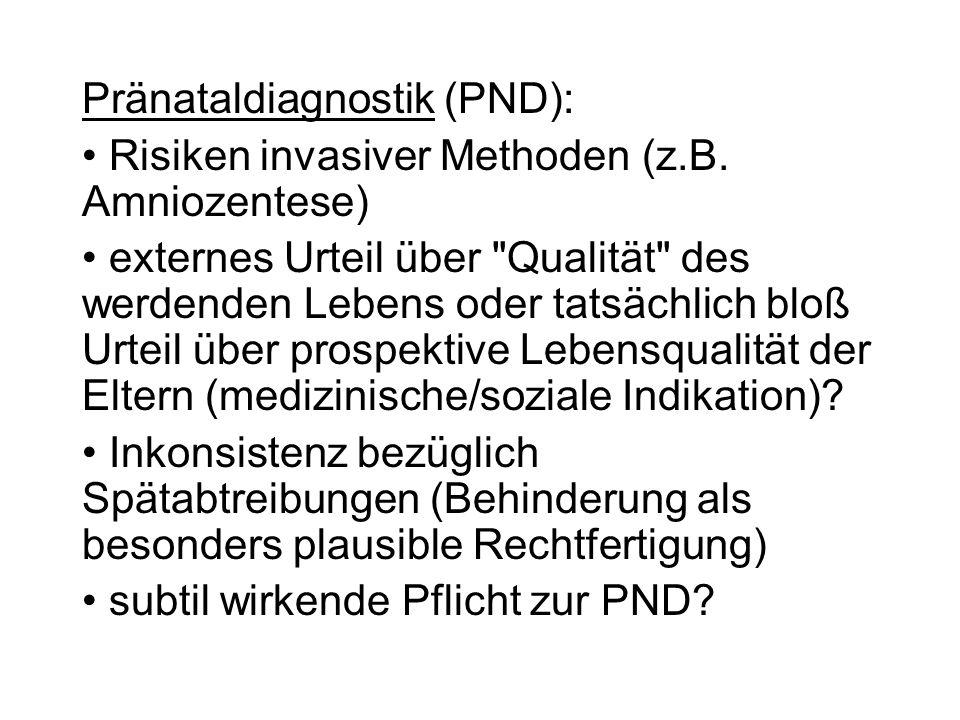 Pränataldiagnostik (PND):