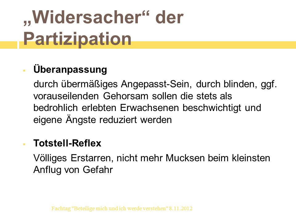 """Widersacher der Partizipation"