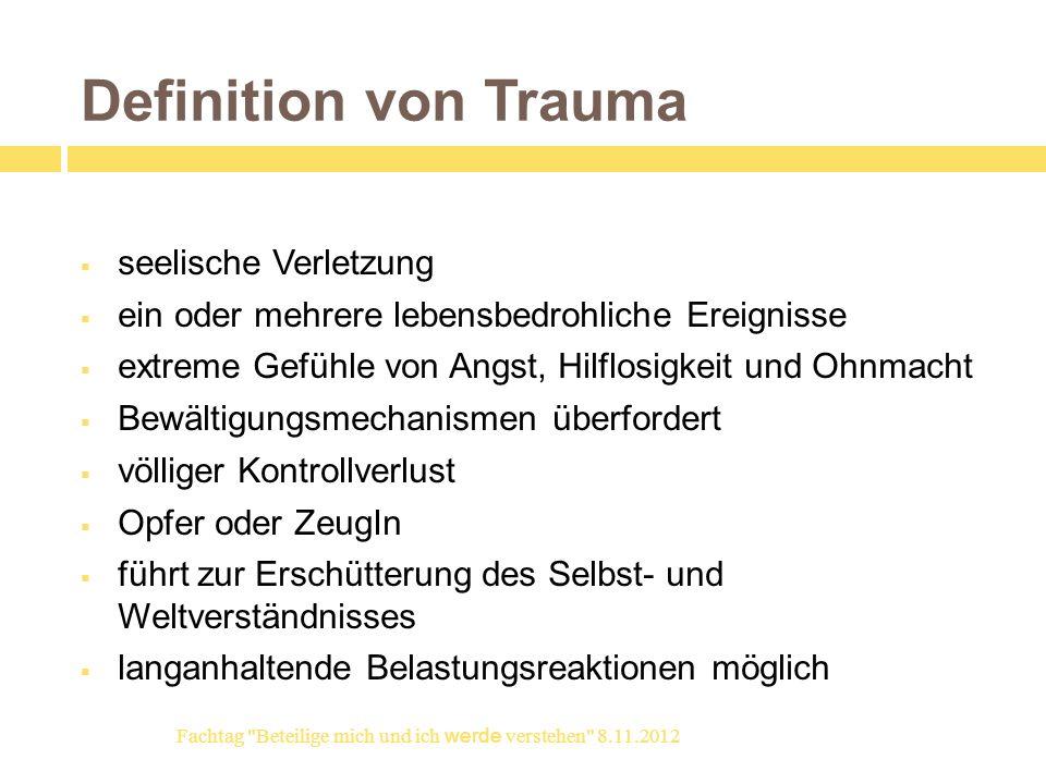 Definition von Trauma seelische Verletzung