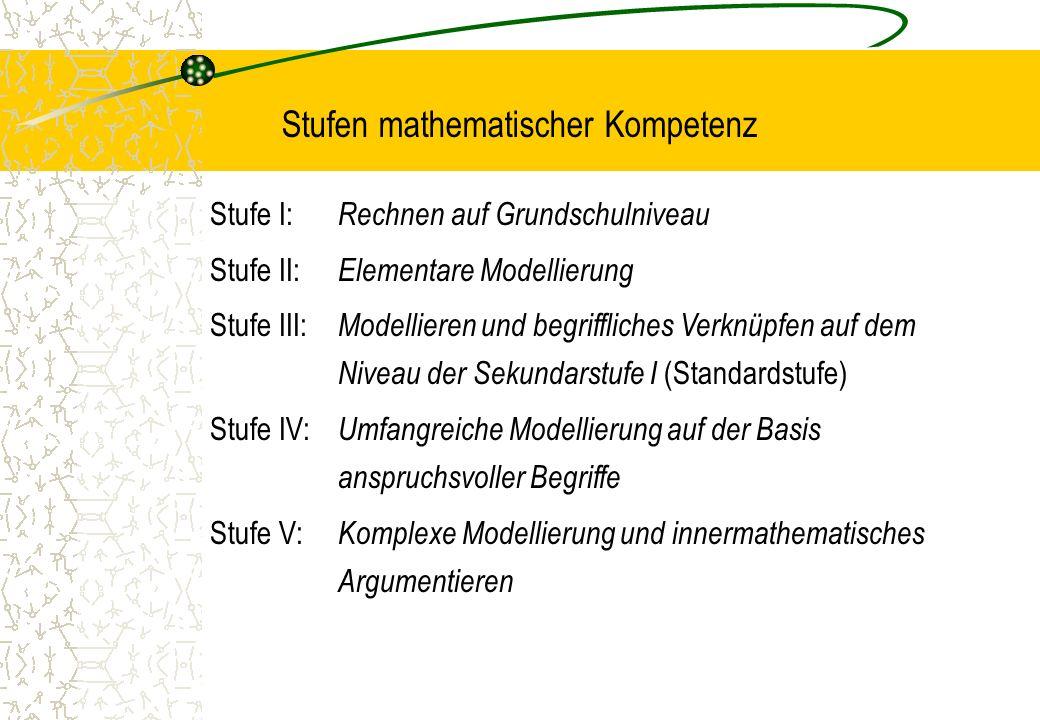 Stufen mathematischer Kompetenz