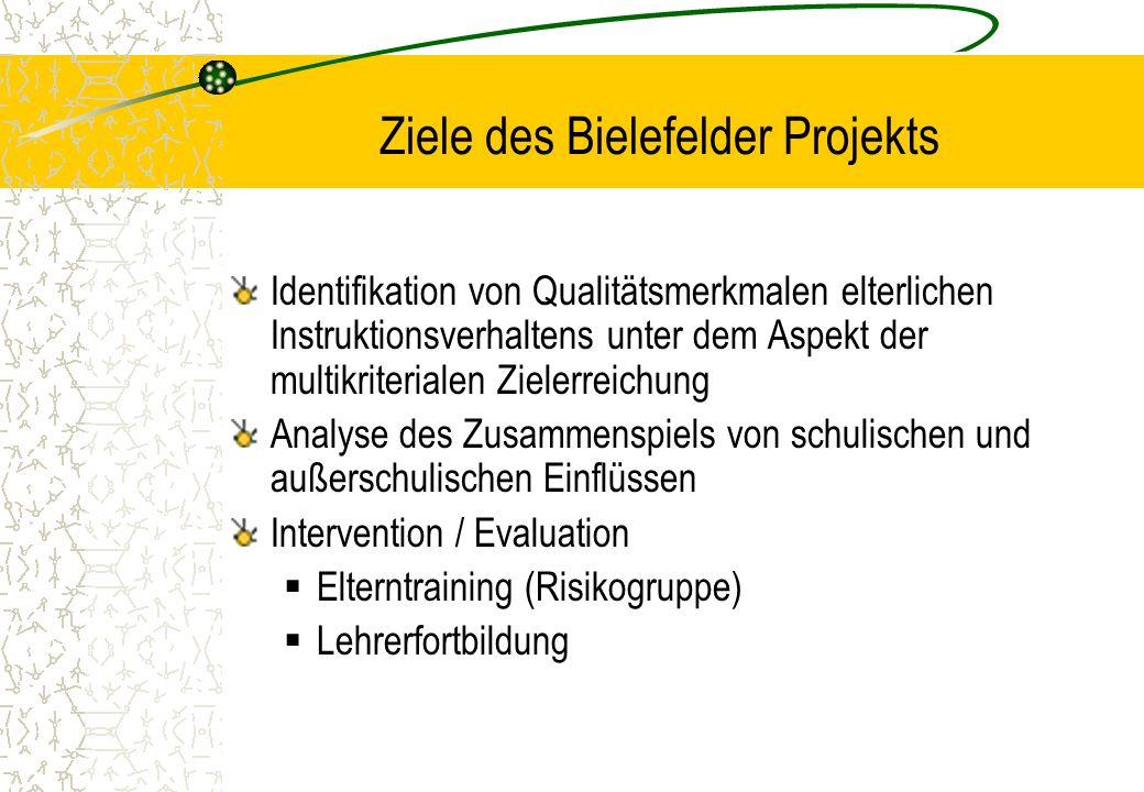 Ziele des Bielefelder Projekts