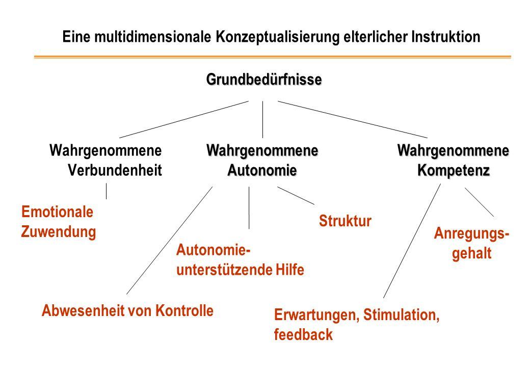 Eine multidimensionale Konzeptualisierung elterlicher Instruktion